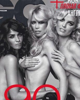 Christensen, Schiffer i Herzigova nago na okładce GQ (FOTO)