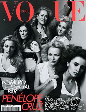 Gwyneth Paltrow, Meryl Streep, Kate Winslet na okładce Vogue
