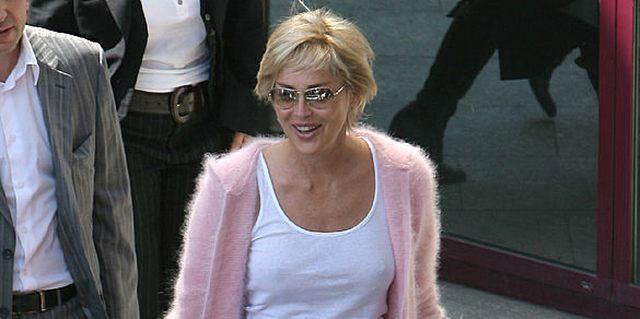 Sharon Stone w Polsce... bez stanika (FOTO)
