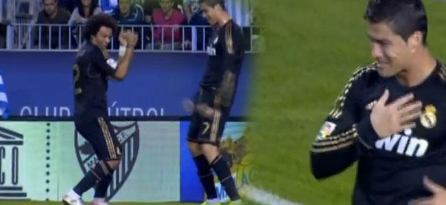 Cristiano Ronaldo tańczy na meczu (VIDEO)