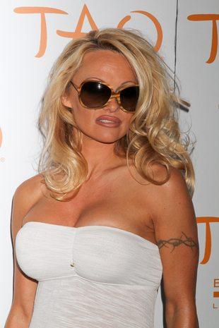 Pamela Anderson na urodzinowej imprezie (FOTO)