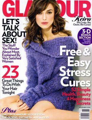 Keira Knightley w <i>Glamour</i>