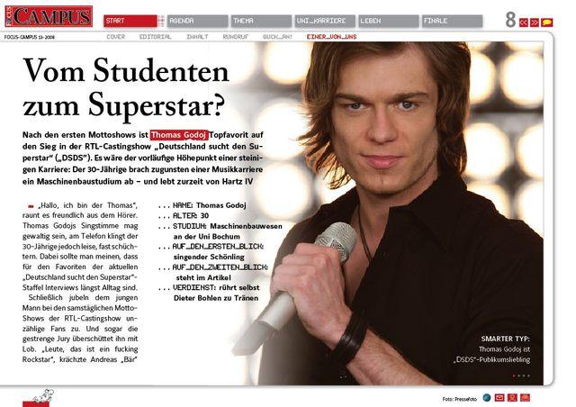 Thomas Godoj wygrał niemieckiego Idola