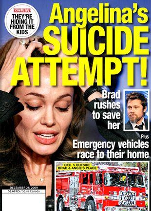 Angelina Jolie ma myśli samobójcze!