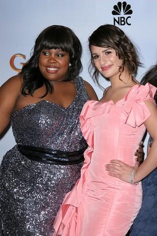 Ekipa Glee na rozdaniu Złotych Globów (FOTO)