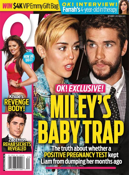 Miley Cyrus udawała ciążę, żeby zatrzymać Liama Hemswortha!