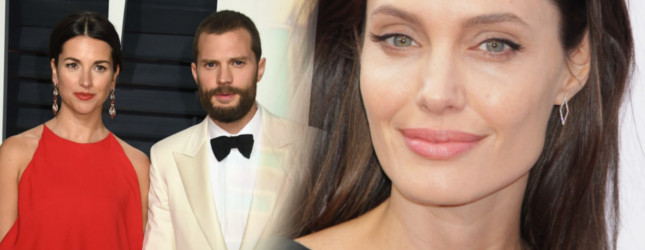 Jamie Dornan właśnie dał kosza Angelinie Jolie, a wszystko przez swoją żonę