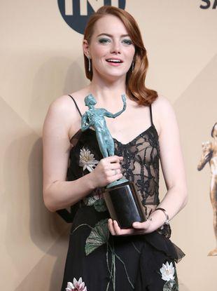 Emma Stone na rozdaniu nagród Gildii Aktorów 2017 (FOTO)