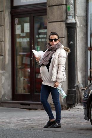 Anna Mucha tuż przed porodem (FOTO)