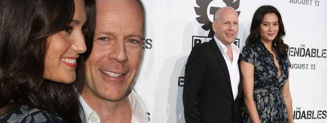 Bruce Willis ze swoją damą Emmą Heming (FOTO)