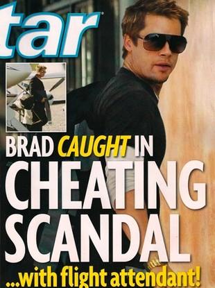 A media wciąż o zdradzie Brada Pitta...