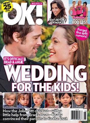 Angelina Jolie wyjdzie za Brada, jeśli dzieci o to poproszą
