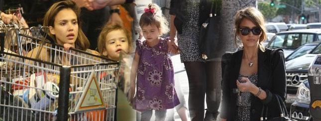 Jessica Alba nawet na zakupach wygląda modnie (FOTO)
