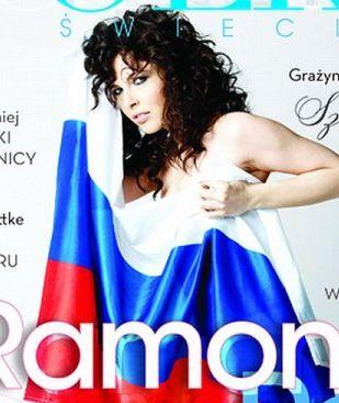 Ramona Rey otulona flagą (FOTO)