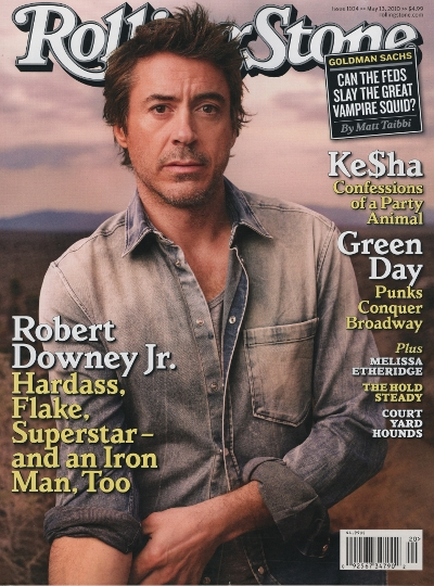 Robert Downey Jr. w magazynie Rolling Stone (FOTO)