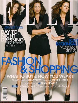 Kate Beckinsale na okładce magazynu Elle