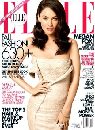 Megan Fox i piękne 25-letnie na okładce Elle (FOTO)