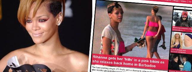 Rihanna otula pupę w falbanki (FOTO)