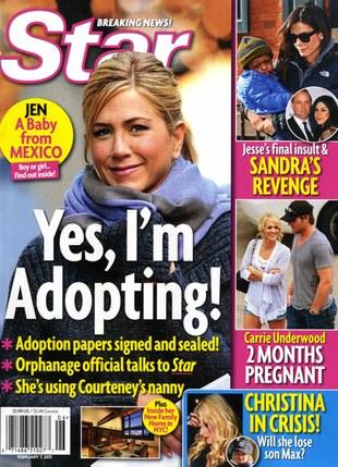 Jennifer Aniston szykuje się do adopcji?