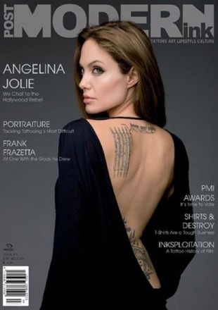 Angelina Jolie zrobiła sobie tatuaż po pijaku!