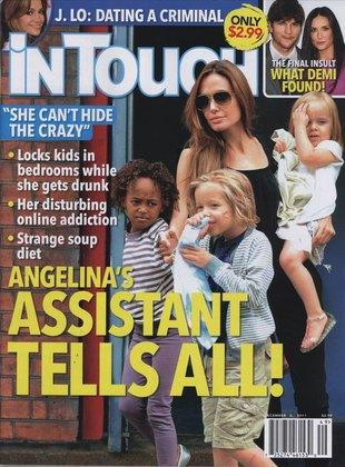 In Touch: Jolie zbiera zakrwawione plastry dzieci