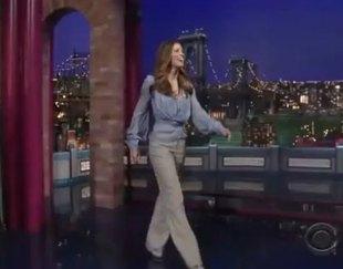 Szykowna Jessica Biel u Davida Lettermana (FOTO)