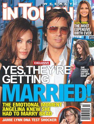 Angelina Jolie chce poślubić Brada