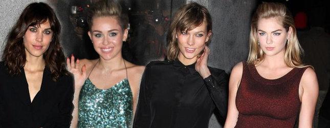 Miley Cyrus wśród modelek (FOTO)