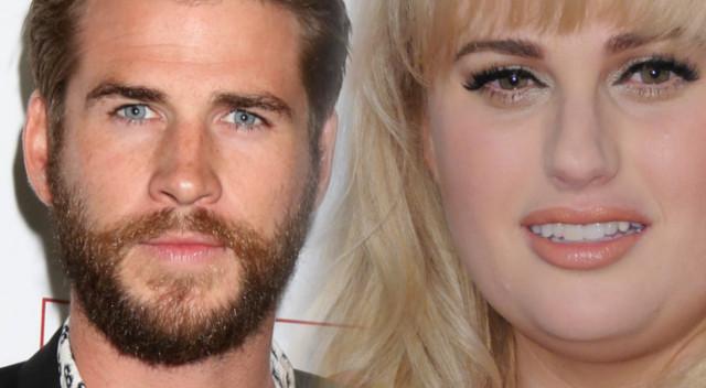 Liam Hemsworth namiętnie całuje Rebel  Wilson!