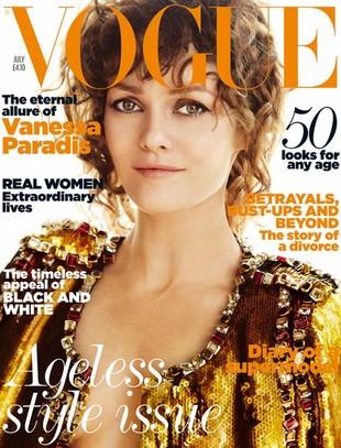 Vanessa Paradis w Vogue chwali się pierścionkiem (FOTO)