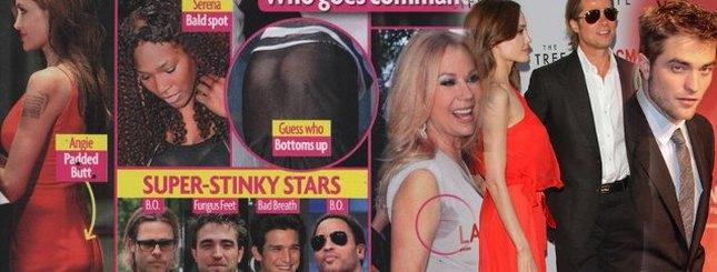 Jolie nosi wkładki na pupę, Pattinson ma grzybicę