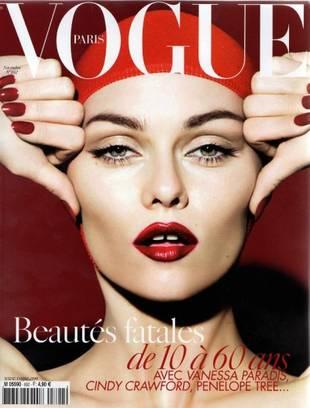 Vanessa Paradis na okładce francuskiego Vogue