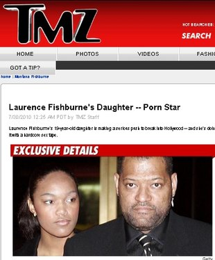 Córka Laurenca'a Fishburne\'a zagrała w filmie porno