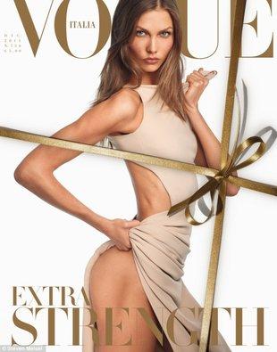 Ani grama tłuszczu – Karlie Kloss w sesji dla Vogue Italia