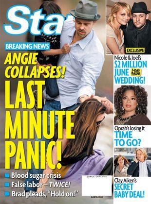 Angelina Jolie mdleje