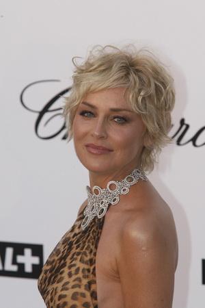 Pomarszczona twarz Sharon Stone