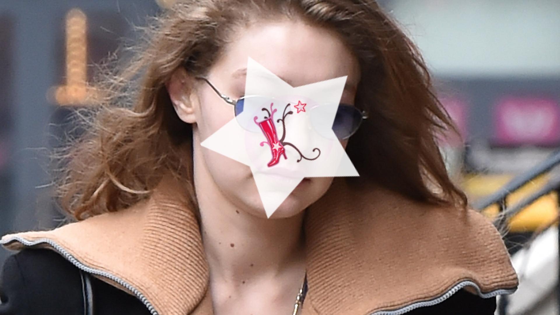 Opuchnięta Gigi Hadid zaniedbała się
