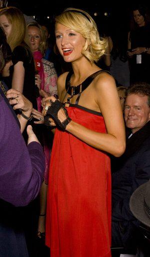 Paris Hilton na pokazie mody siostry (FOTKI)