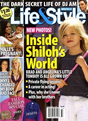 Shiloh Jolie-Pitt nosi męskie kąpielówki