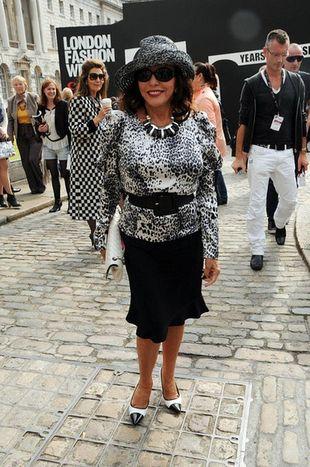 Joan Collins na tygodniu mody (FOTO)