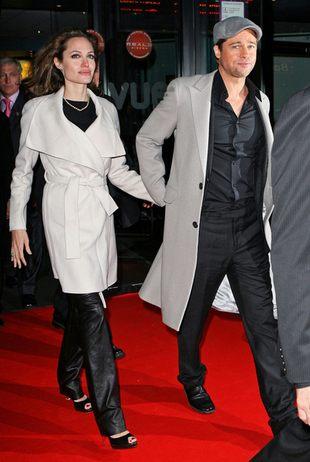 Jolie i Pitt na wigilijnym fast-foodzie