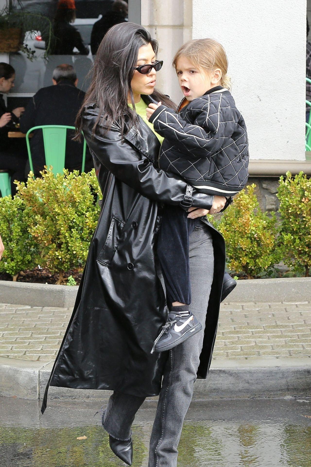 Kourtney Kardashian z 4-letnim synkiem Reignem