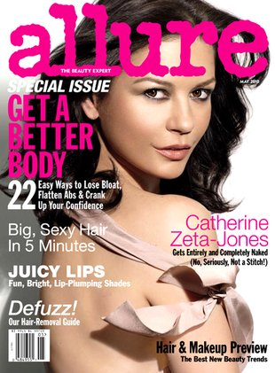 Catherine Zeta-Jones naga w Allure
