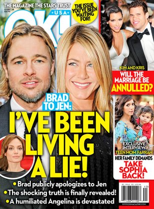Brad Pitt jest zazdrosny o Jennifer Aniston?