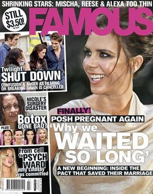 Magazyn Famous twierdzi, że Victoria Beckham jest w ciąży