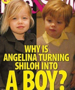 Shiloh Jolie-Pitt to cały ojciec