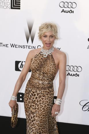 Sharon Stone rzuciła futra dla gumiaków