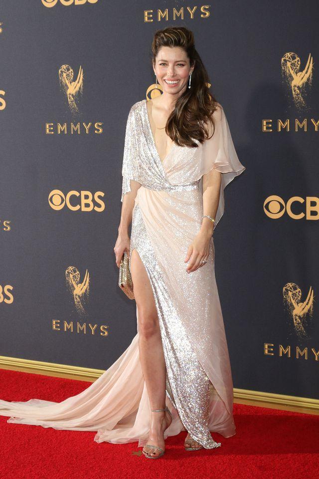 Jessica Biel na gali Emmy 2017