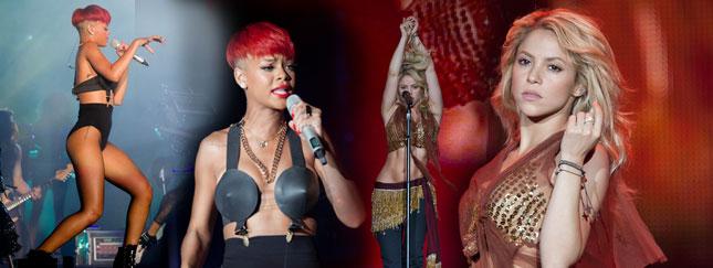Seksowna Rihanna kontra zmysłowa Shakira (FOTO)