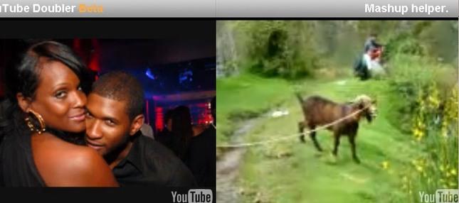 Co łączy Ushera z kozą? [VIDEO]